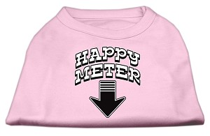 Happy Meter Screen Printed Dog Shirt Light Pink XXL (18)